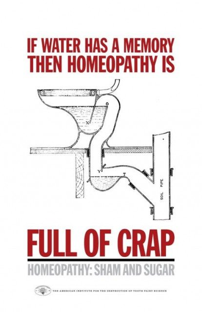 Homeopathy is full of crap! Click to embiggen.