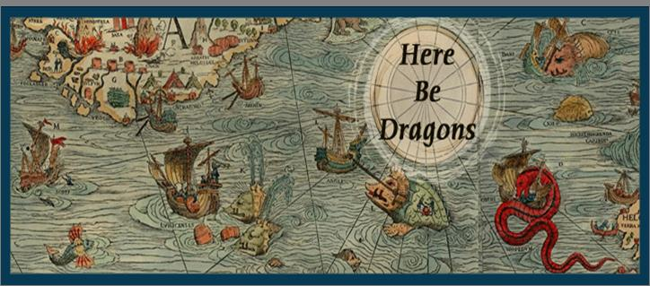 Here be dragons large map