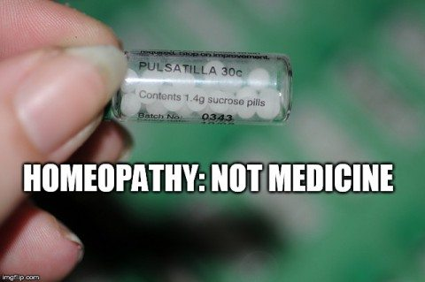 Homeopathy - not medicine