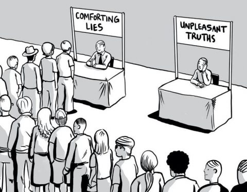 comforting lies unpleasant truths