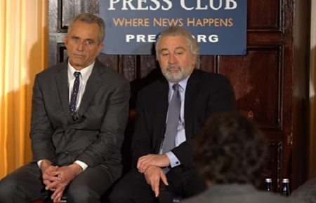 "RFK Jr.: ""Scientists are laughing at us, aren't they"" De Niro: ""Yep."""